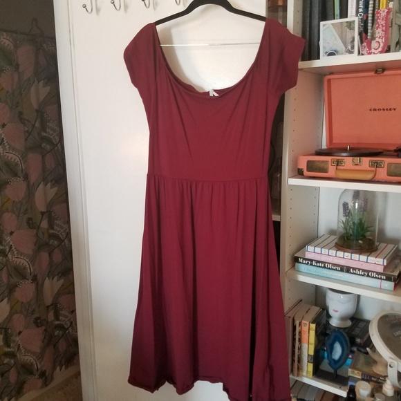 7ac40172dc6d Urban Outfitters Dresses | Burgundy Midi Dress | Poshmark